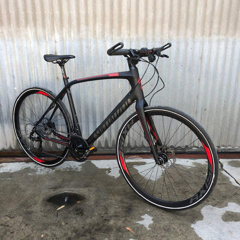 Used Specialized Sirrus Expert - High End Carbon Fiber Flat Bar Performance Road Bike