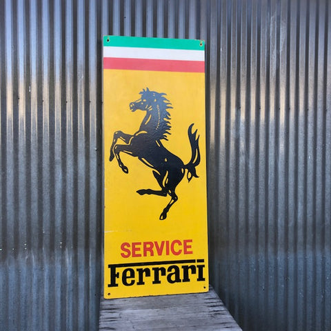Ferrari - Hand Painted Sign - From Pasadena Independent Italian Repair Shop