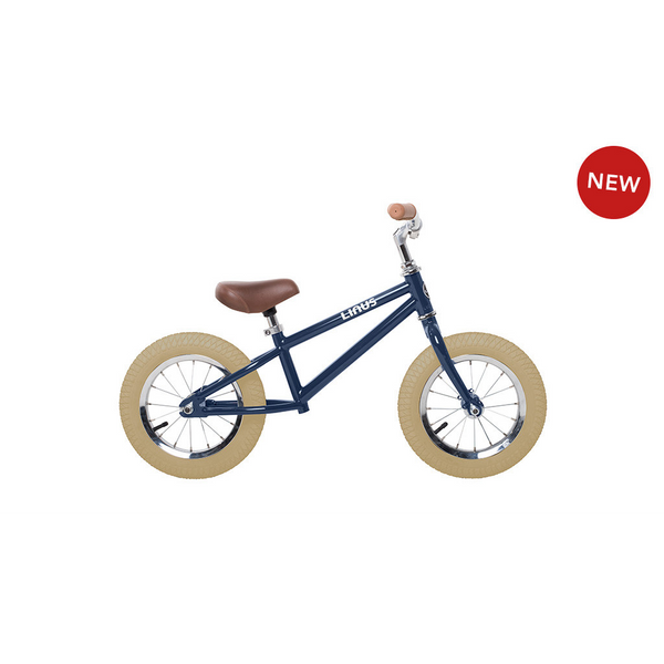 "Linus Lil Roadster navy 12"" balance bike"