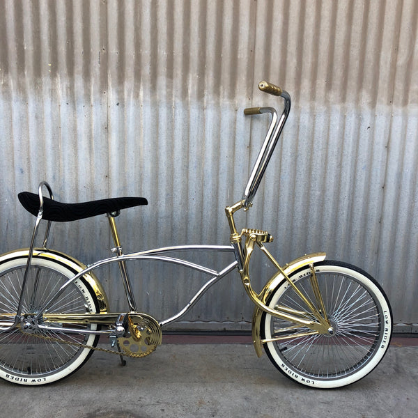 Kid's Lowrider Bicycle - Based on Stingray - Gold and Chrome - Studio Rental