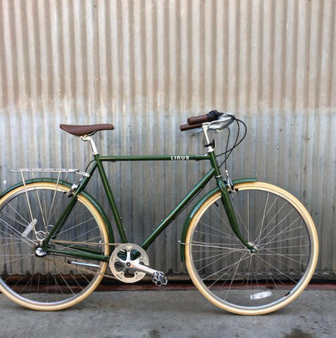 Gentlemen's Linus City Bike - Olive Roadster Sport - Studio Rental