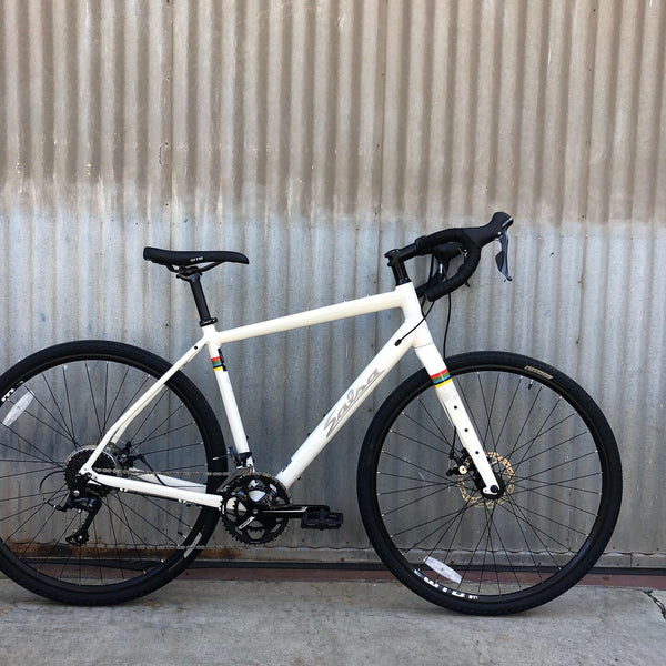 Men's Modern On Road/Off Road Salsa Bicycle - Off White - For Studio Rental