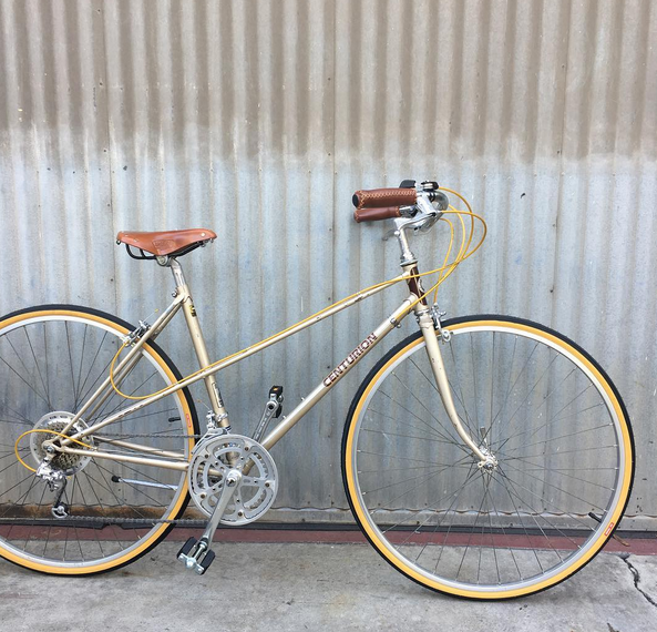 Centurion Vintage Mixte City Bike with a Brooks Leather Saddle