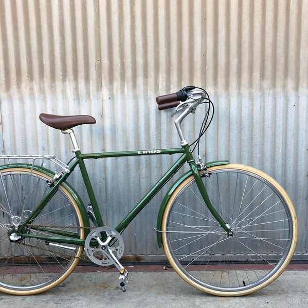 Linus Used Roadster Sport 3 - Olive with Cream Tires