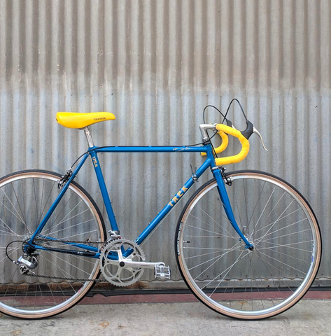 Trek 410 - Classic USA Made Road Bike - Vintage Beauty with Nearly Perfect Yellow Turbo Saddle
