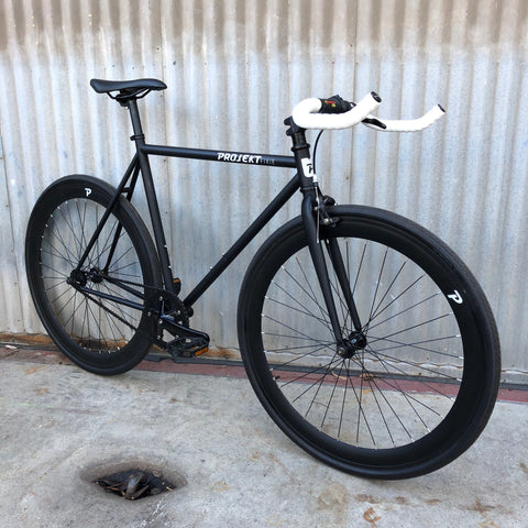 Black Fixie Style City Bike
