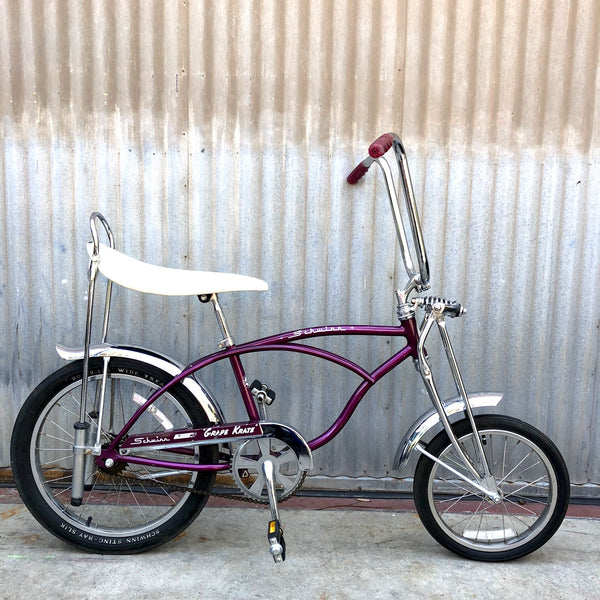 Kid's Stingray - Classic Banana Seat Purple Schwinn Stingray - Studio Rental