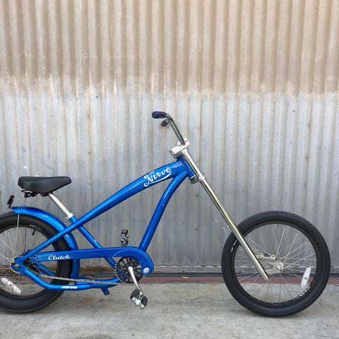 Kid's Lowrider Bicycle - Blue Chopper Bicycle - Studio Rental