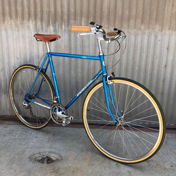 Bridgestone Vintage City Bike Conversion from Road Bike