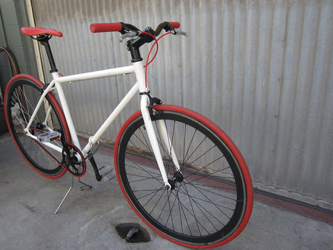 Fixie White Urban Bike