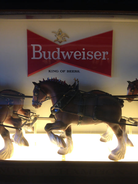 Budweiser Bubble Face Clydesdale Sign for Tavern - 6 Feet Long
