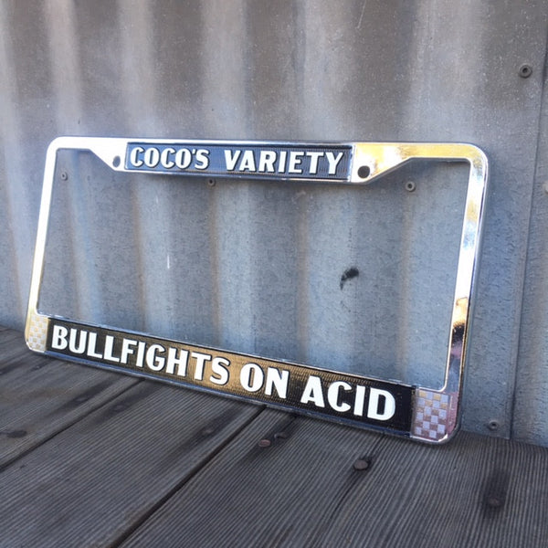 Bullfights on Acid License Plate Frame