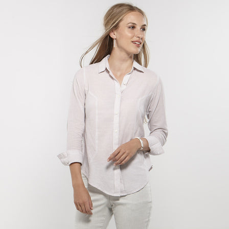 Panelled White Shirt
