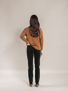 Slim Leg Full Length Cord Pull On Pant