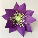 Paper Flower Template, Hellebore for Silhouette or Cricut Explore Craft Cutters