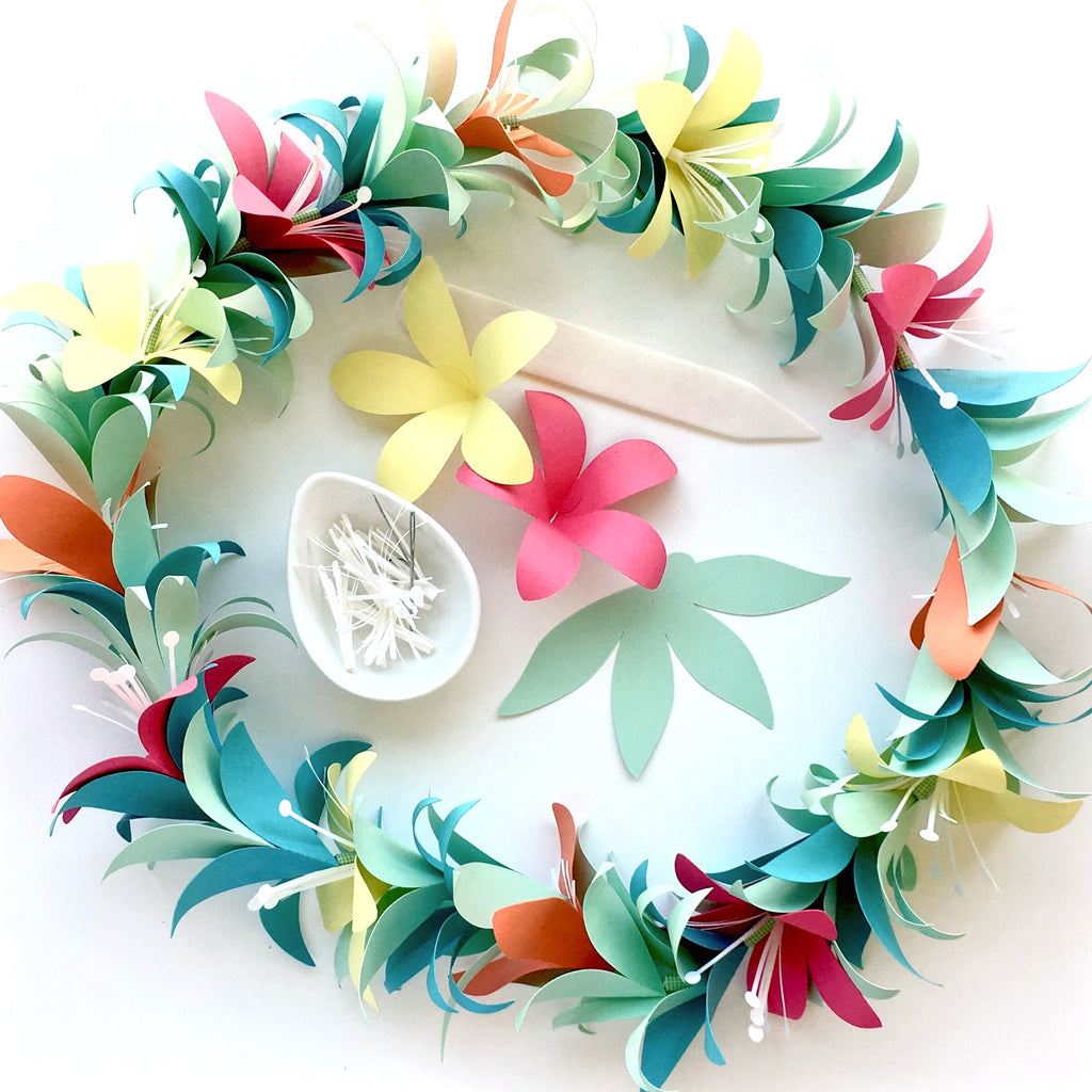 Tropical Flower Garland Lei Templates Svg Dxf Especially Paper