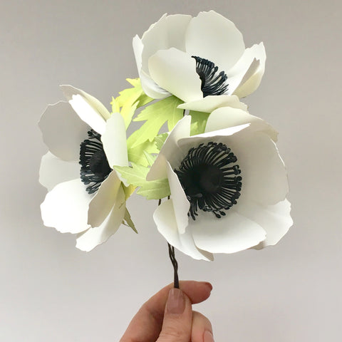 "3"" Anemone, Paper Flower Template (SVG & DXF)"