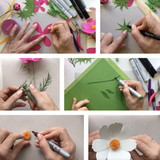Paper Flower Cosmos for Cricut & Silhouette Cutting Machines (SVG, DXF)
