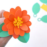 Paper Party Flower for Banners and Cupcake Toppers (SVG & DXF)