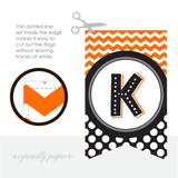 Printable Halloween Banner in Orange & Black