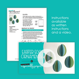 Easter Egg Ornament Cutting Files