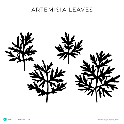 Cutting File: Artemisia SVG Leaves Template for Cutting Machines