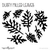 Cutting File: Dusty Miller Paper Leaves Template for Cricut and Silhouette Cutting Machines