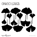 Cutting File: Ginkgo Leaves Template for Cricut and Silhouette Cutting Machines (SVG, PDF & DXF)