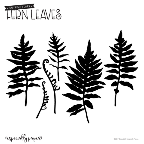 Cutting File: Fern Leaves 01 Template for Cricut and Silhouette Cutting Machines