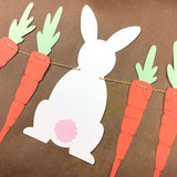 Easter Bunny Garland Digital Kit for Craft Cutters (SVG and DXF) or Hand Cutting