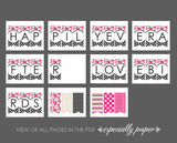 Printable Bridal Shower Banner, Happily Ever After & Love Birds
