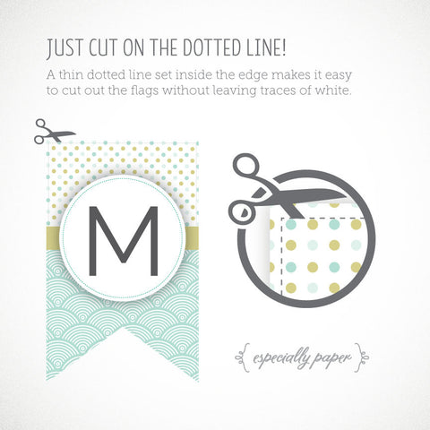 Free Printable Banner Letters Green