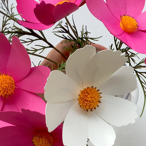 Paper Flower Cosmos For Cricut Silhouette Cutting Machines Svg Dxf