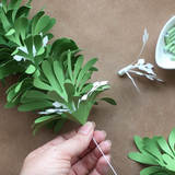 Mistletoe Garland DIY Templates (SVG, DXF)