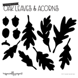 Cutting Flats: Oak Leaves & Acorns