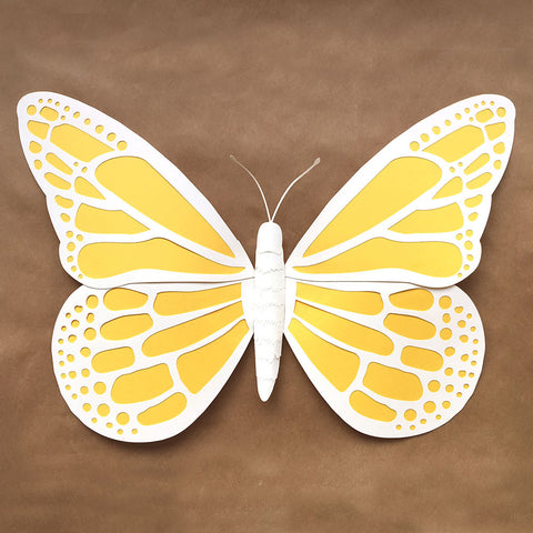 DIY Large Paper Butterfly Template (SVG, DXF and PDF)