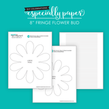 Fringe Flower Bud DIY Templates (PDF, SVG, DXF)
