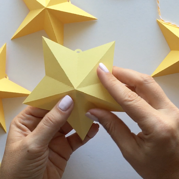 3d Star Garland Template Cutting Files Svg Amp Dxf