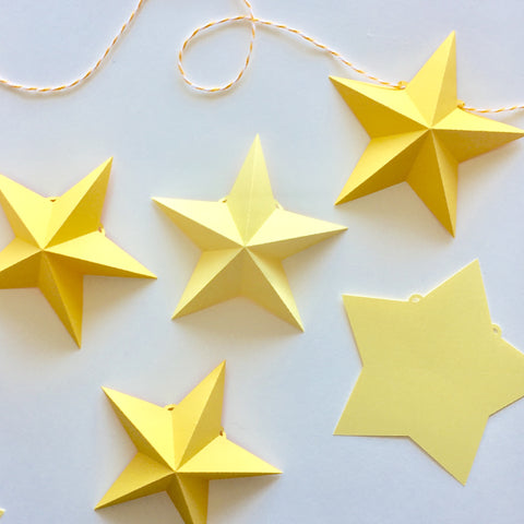 3D Star Garland Template / Cutting Files (SVG & DXF)