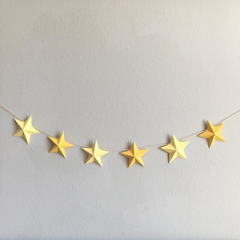 3D Star Garland Template / Cutting Files (SVG & DXF) | Especially Paper