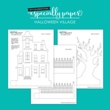 DIY Halloween Village, Template & Cutting Files