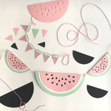 Watermelon Garlands and Cake Bunting Cutting Files (SVG & DXF)