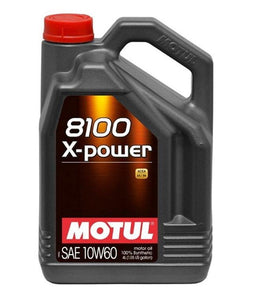 MOTUL 8100 X-POWER 10W60 SYNTHETIC ENGINE OIL 5 LITRE