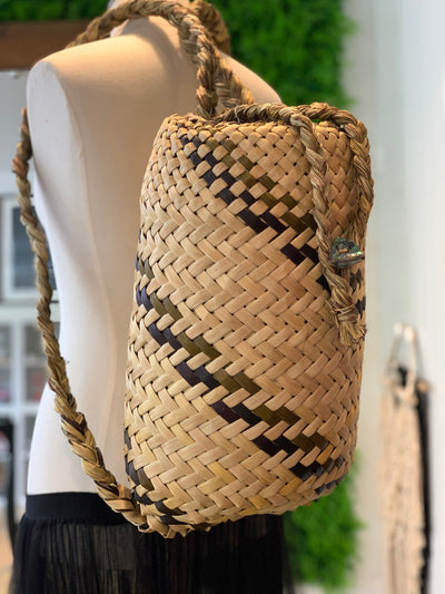 Weaving - Handmade Pikau (Backpack kete)