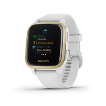 Load image into Gallery viewer, Venu Sq White with Light Gold Bezel