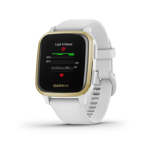 Venu Sq White with Light Gold Bezel
