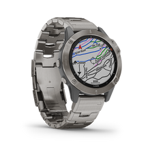 Load image into Gallery viewer, Garmin Fenix6 Titanium with Vented Titanium Bracelet