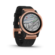 Load image into Gallery viewer, Garmin Fenix6S Rose Gold-tone with Heathered Black Nylon