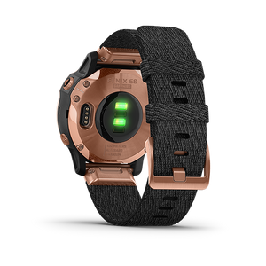 Garmin Fenix6S Rose Gold-tone with Heathered Black Nylon
