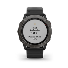 Load image into Gallery viewer, Garmin Fenix6X Carbon Gray DLC with Black Band